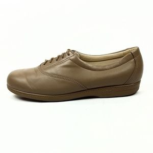 SAS Beige Leather Lace Up Walking Shoes Size 10N